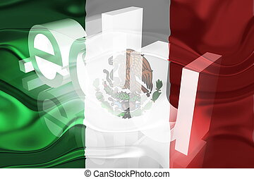 Flag of Mexico wavy education - Flag of Mexico, national...