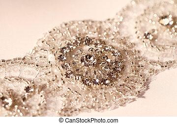 Wedding dress belt - Photo of a wedding dress beaded belt