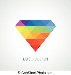 Vector illustration of diamond logo