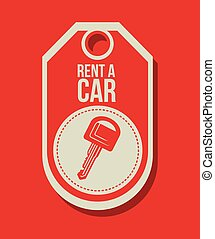 rent a car design, vector illustration eps10 graphic