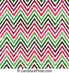 chevron pattern with Zig zag stripes