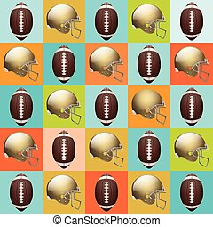 Vector American Football Pattern - A vector American...