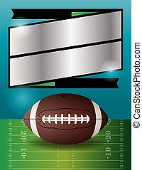 Vector American Football Party - A vector football party...