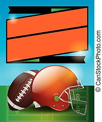 Vector American Football Bowl Game Party Illustration - A...
