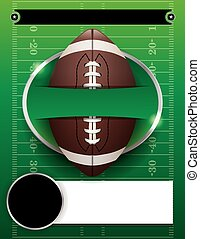 Vector American Football Party Template Illustration -...