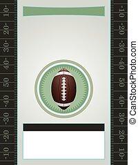 Vector American Football Party - A vector American Football...