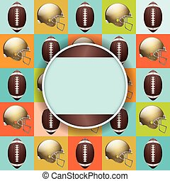 Vector Football Pattern Party - A vector flyer design...