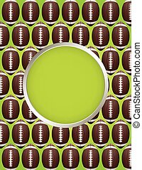 Vector American Football Pattern - An American Football...