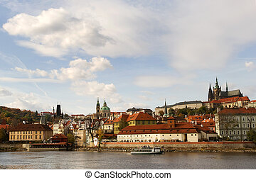 Hradcany - View of Hradcany district with Prague castle