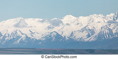 snowy peaks of the Tien Shan