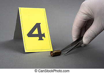 collect evidence-an investigator collect fired cartridge