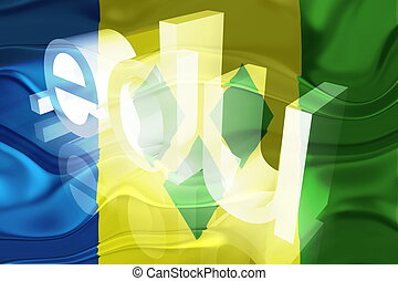 Flag of Saint Vincent and Grenadines wavy education - Flag...