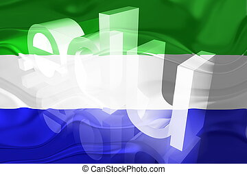 Flag of Sierra Leone wavy education - Flag of Sierra Leone,...