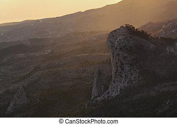 Amazing view from the mountain Ai-Petri, Crimea