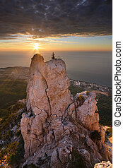 Ai-Petri in sunlight - The magnificent view from Ai-Petri...