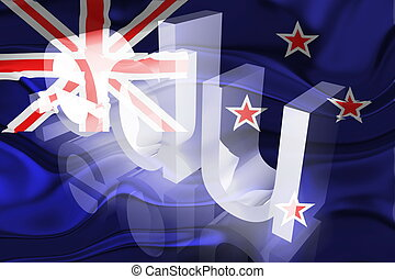 Flag of New Zealand wavy education - Flag of New Zealand,...