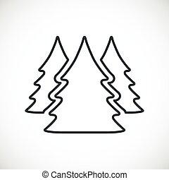 three Christmas trees.