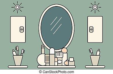 Vektor clipart von inneneinrichtung badezimmer hand for Badezimmer inneneinrichtung