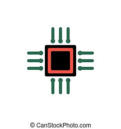 cpu iconvector illustration