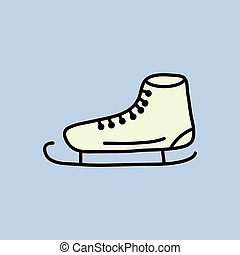 Ice skate icon.vector illustration.