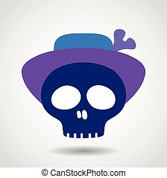 Skull With Hat.