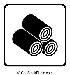 Wood Pellets iconvector illustration