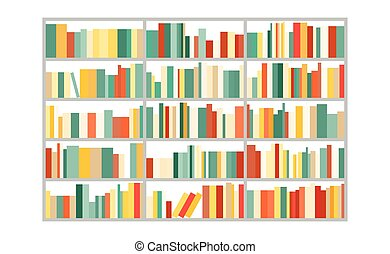 bookcase.vector illustration.