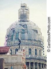 Havana architecture detail - Detail of Capitol building dome...