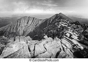 Mt Kathadin - Ragged mountain top of Mt. Katahdin