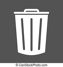 Dustbin, clean, office icon vector image Can also be used...
