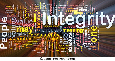 Integrity principles background concept glowing - Background...