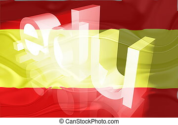 Flag of Spain wavy education - Flag of Spain, national...