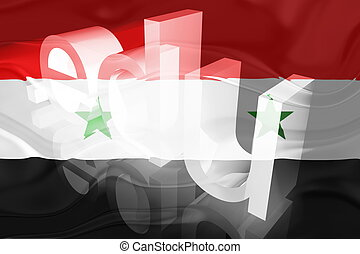 Flag of Syria wavy education - Flag of Syria, national...