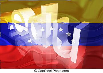 bandera, ondulado,  venezuela, educación