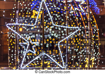 Star chaped Christmas decoration - Star shaped Christmas...