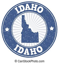 Idaho grunge stamp - Grunge rubber stamp with the name and...