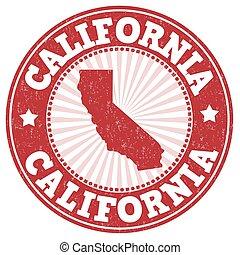 California grunge stamp