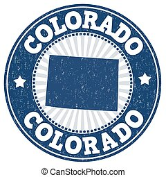 Colorado grunge stamp - Grunge rubber stamp with the name...
