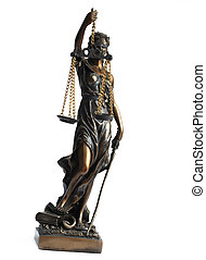 Justice - Lady Justice, the Roman Goddess of Justice,...