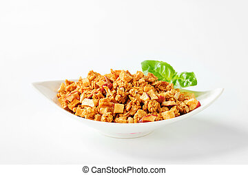 Granola with dried apples