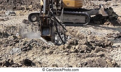 Jackhammer and breaking reinforced - Excavator is breaking...