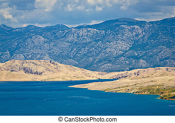 Island of Pag and Velebit mountain, Croatia