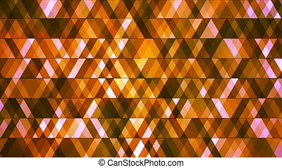 Broadcast Twinkling Hi-Tech Diamonds, Orange, Abstract, Loopable, HD