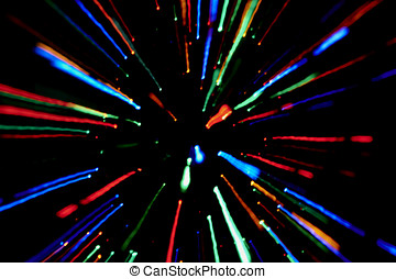 Abstract background moved defocused colored lights -...