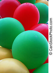 Red, green and gold balloons - Red, green and gold balloons...