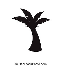 banana tree icon vector