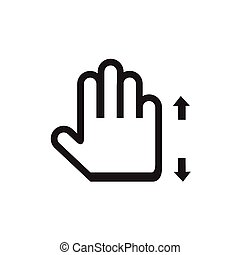 touch screen gesture, interface (vector hand icons)