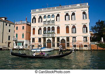 family gondola ride - VENICE - OCTOBER 26: Family enjoying...