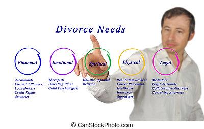 Diagram of Divorce Needs