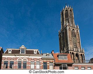 Dom Church tower and facades, Utrecht, Netherlands